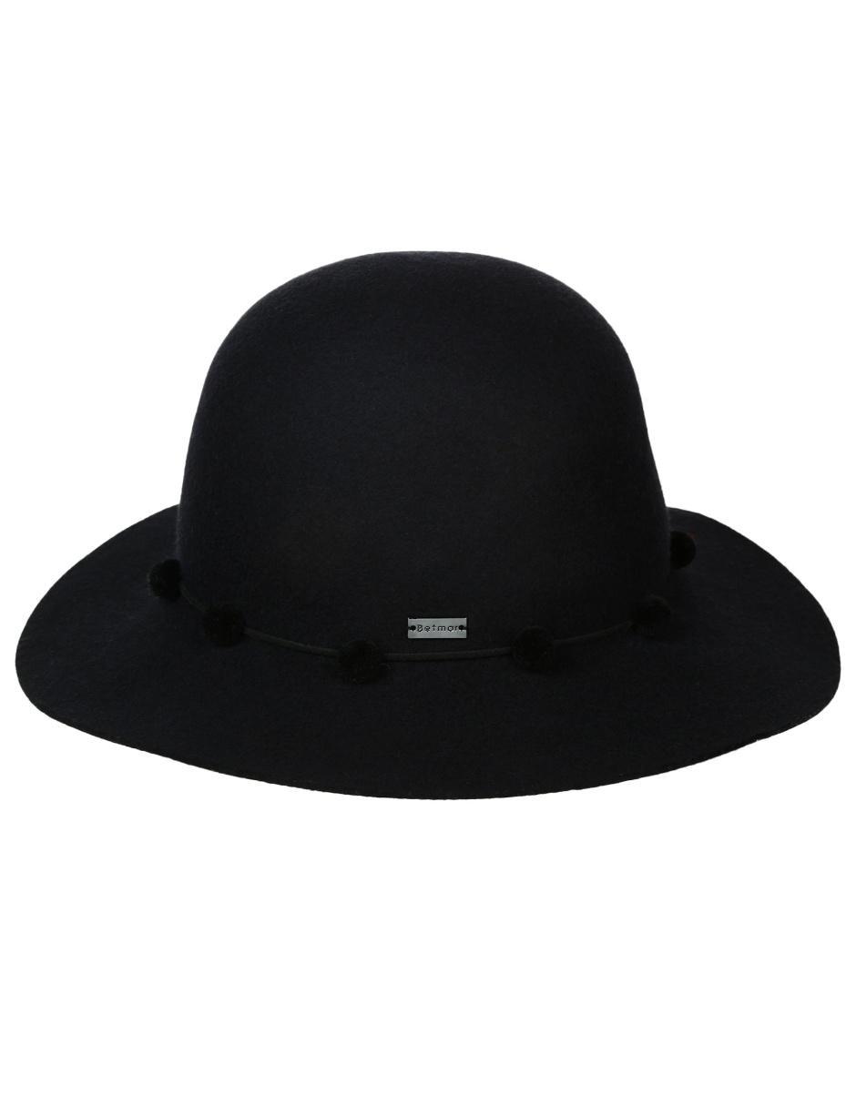 Sombrero Betmar de lana negro b4c2ffec54c